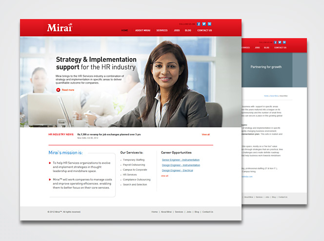 hr services website Website Design for a HR Services Company