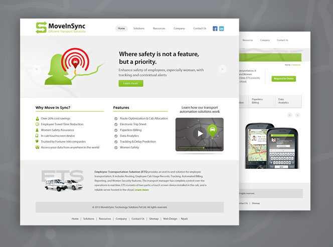 Movensync Website Design for MoveInSync