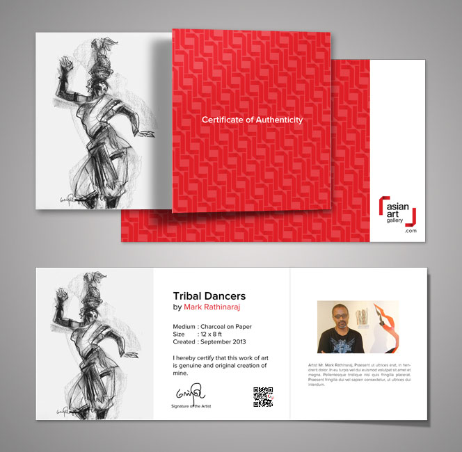 art gallery collaterals 2 Branding Services for Asian Art Gallery