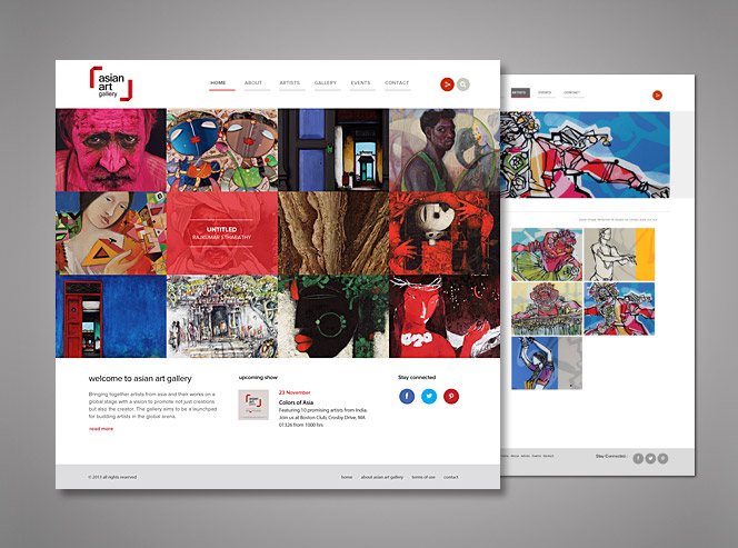 asian art gallery website Branding Services for Asian Art Gallery