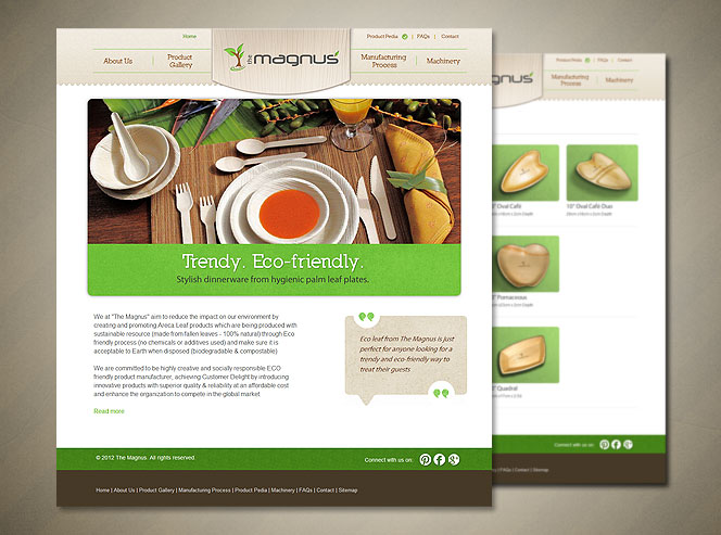ecoleafplates Small Business Web Design   Two Recent Examples