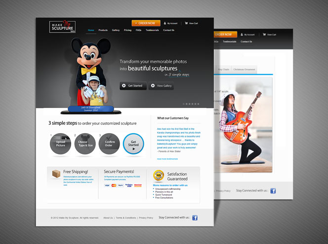 makemysculpture Small Business Web Design   Two Recent Examples