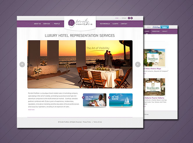 web design for hospitality services luxury hotel web design