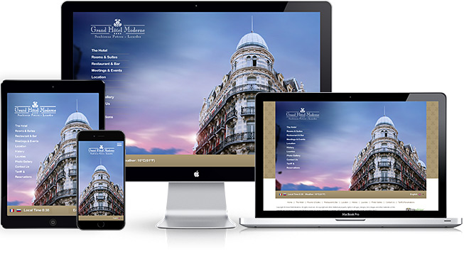 Hotel website design development hotel digital for Hotel web design