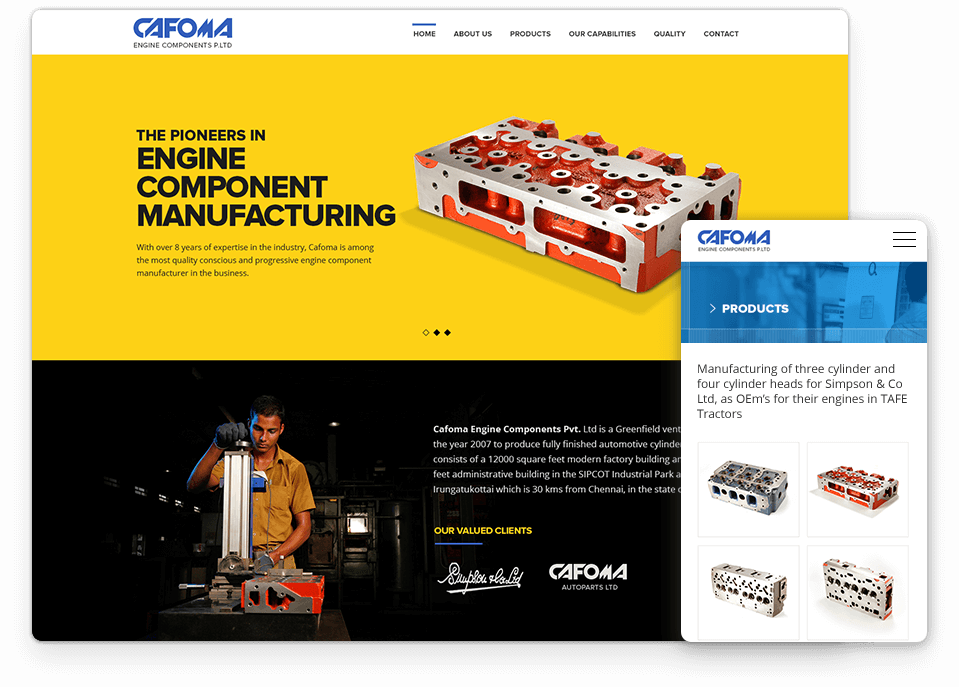 Cafoma website design