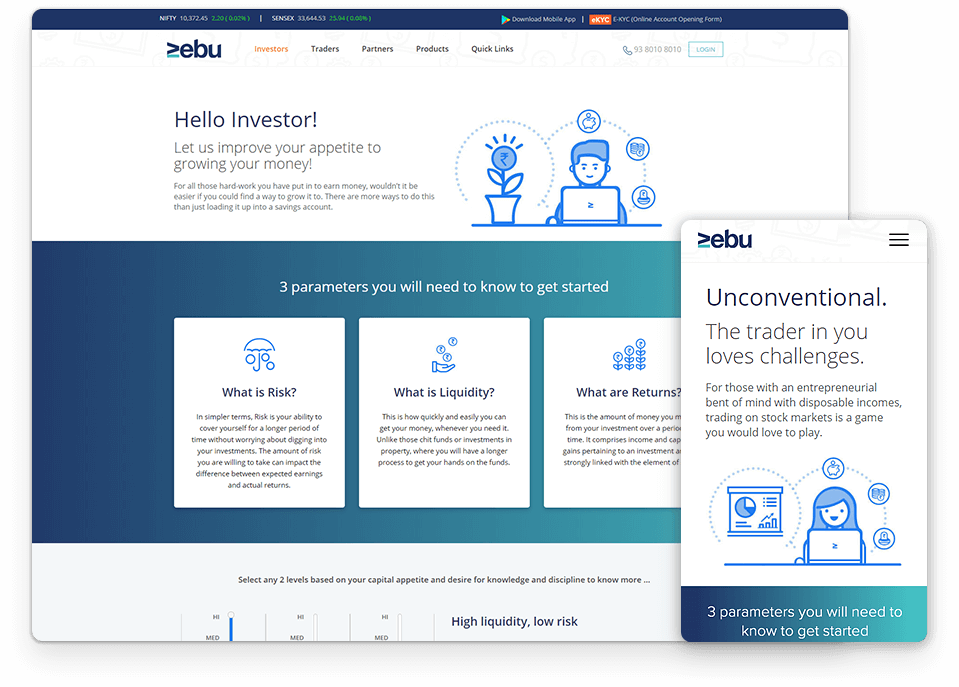 zebu website design