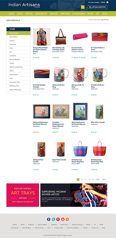 Indian Artisans Online website