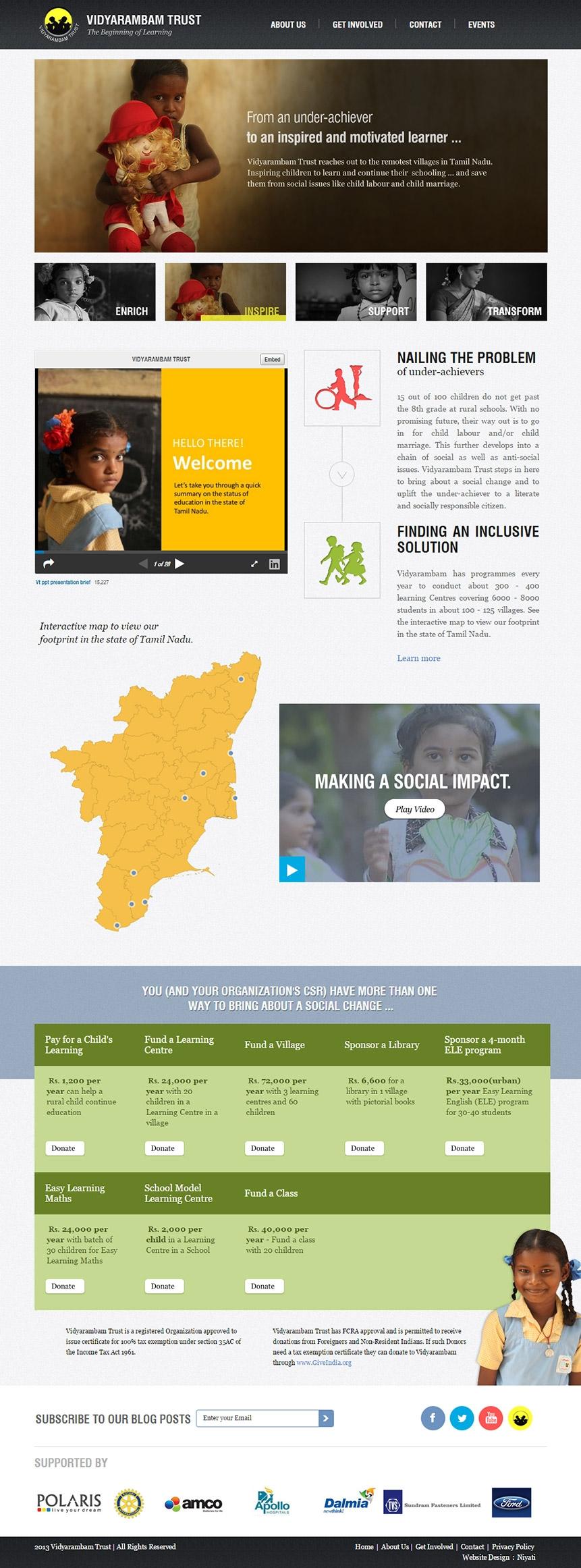 Educational trust website design