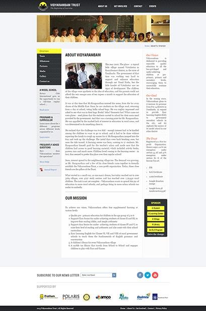 Vidyarambam website