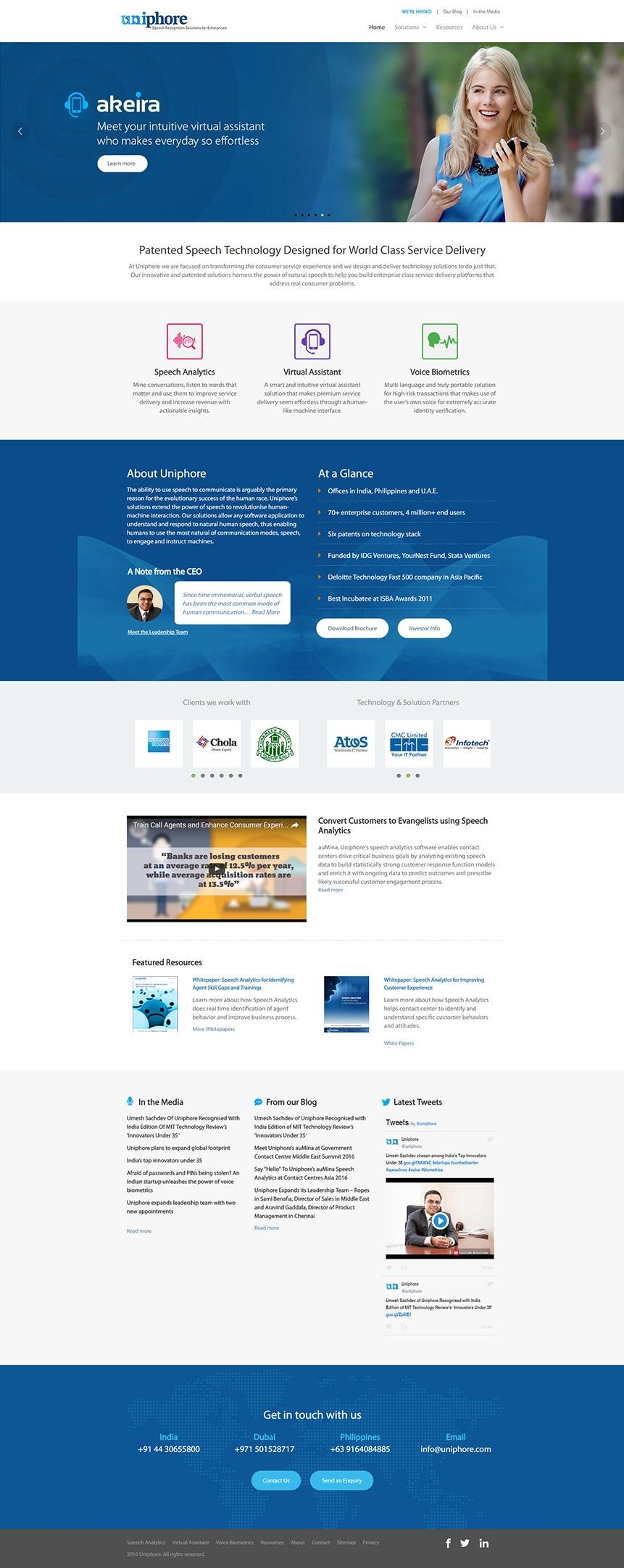 technology solutions website design