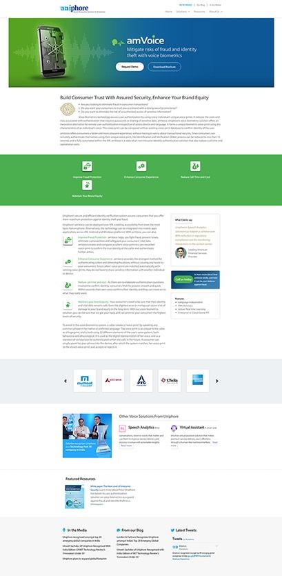 Uniphore website design