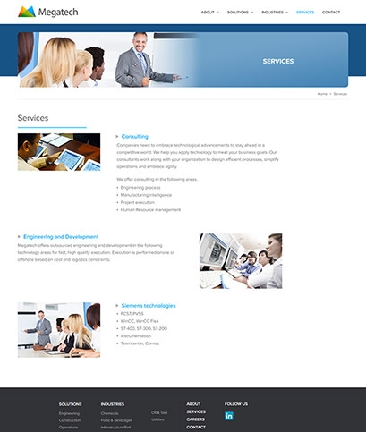 Megatech website design