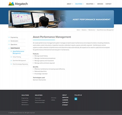 Megatech web design