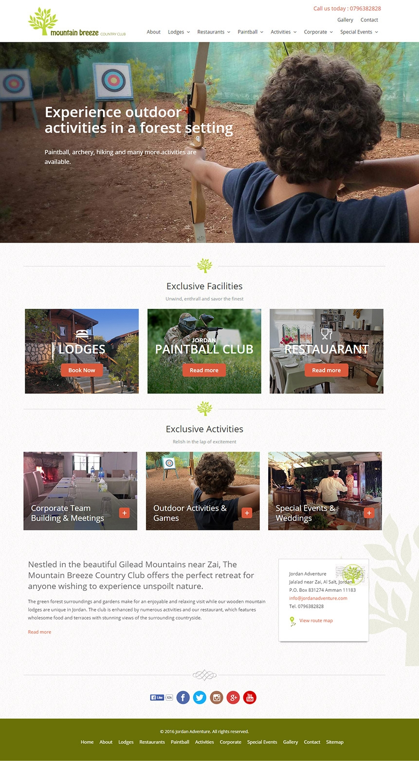 Recreational website design