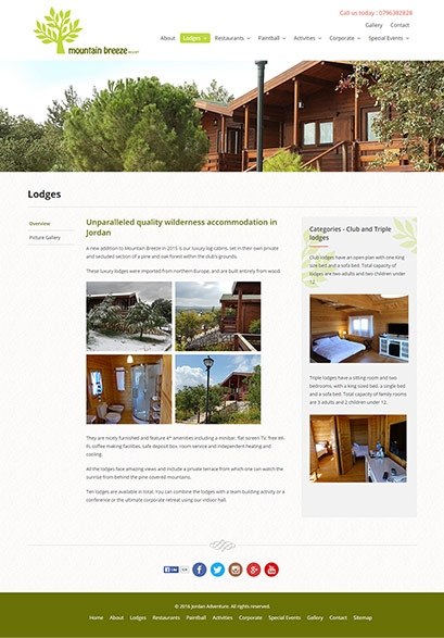 Mountain Breeze website design