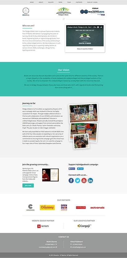 Pledge A Book website