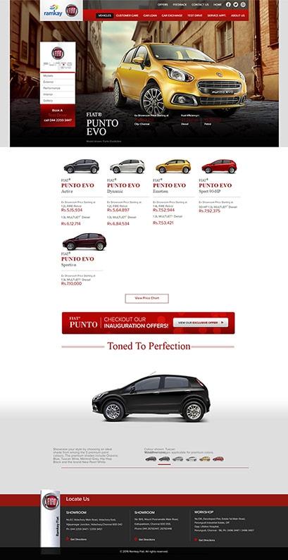 Ramkay Fiat website design
