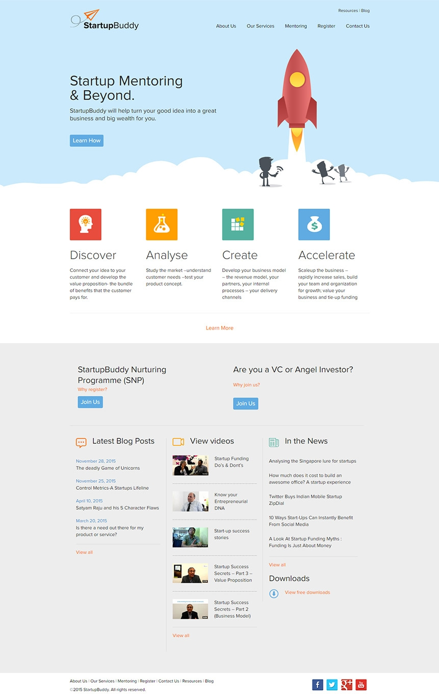 startup consultancy website design
