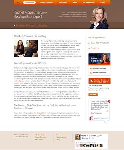 Rachel A Sussman website design